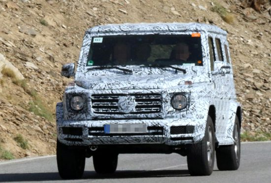 2018 Mercedes G550 4X4 Spy Shots